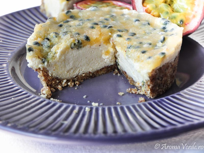 Raw Cheesecake cu fructul pasiunii