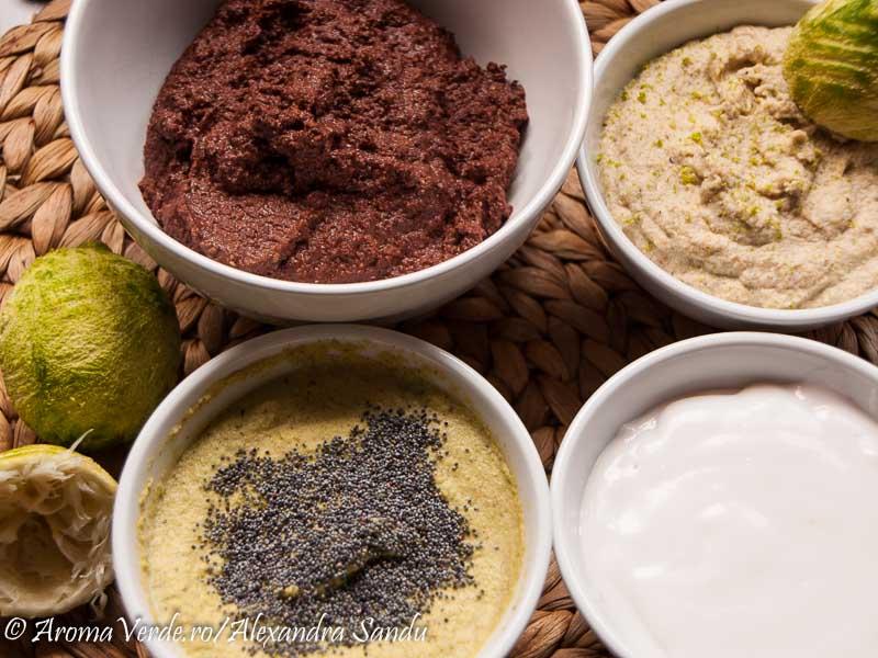 Crema raw ciocolata, fistic, lime, cocos