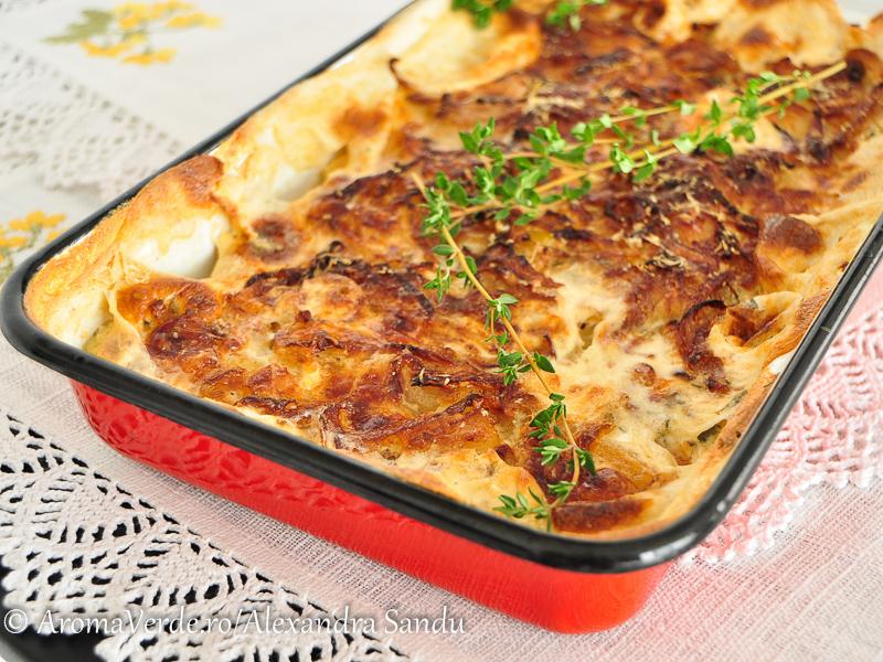 Gratin de țelină și cartofi GF