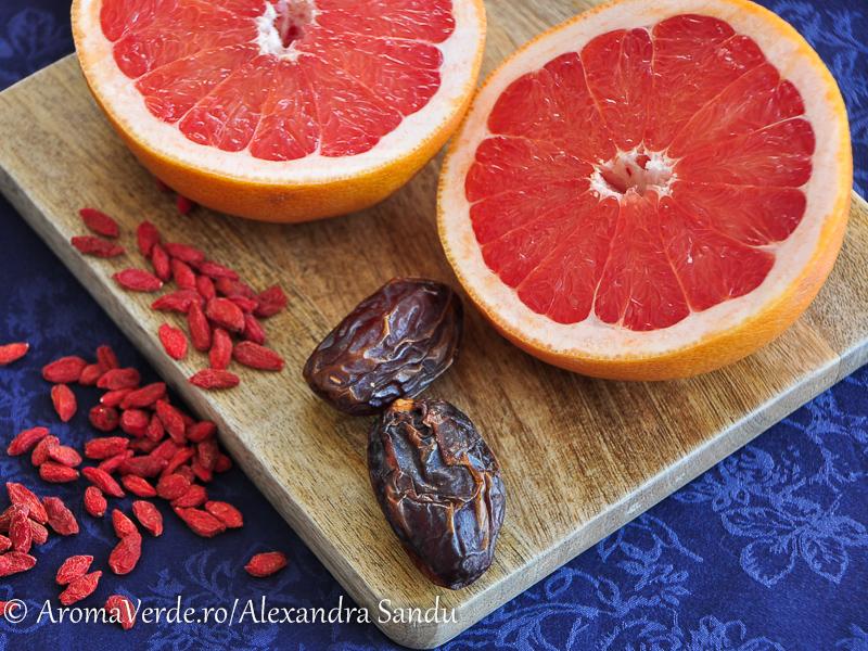 Grapefruit, curmale, goji