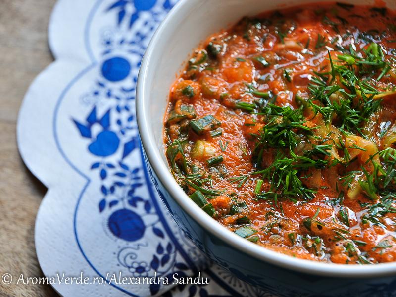 Supă de morcovi raw vegană