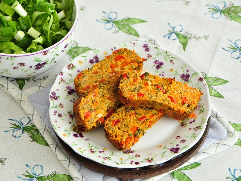Drob de legume și salata verde