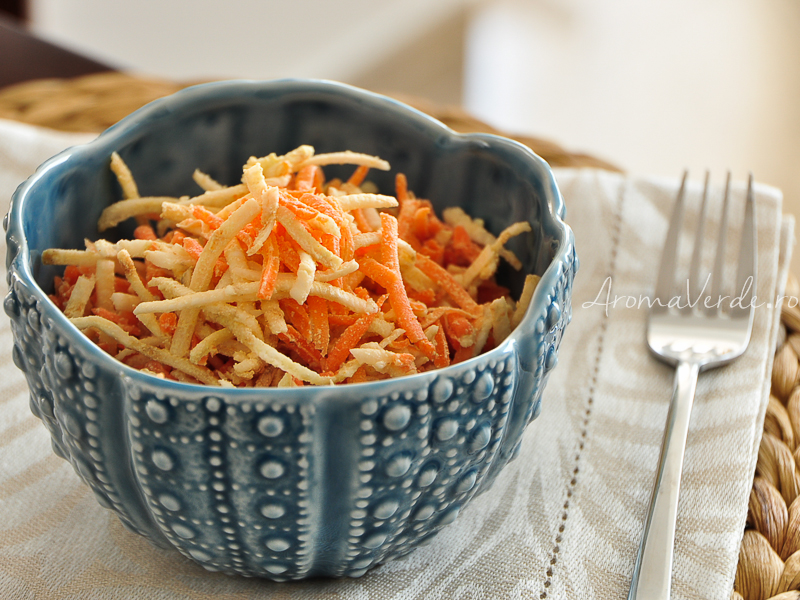 Salata de telina si morcov cu maioneza vegana