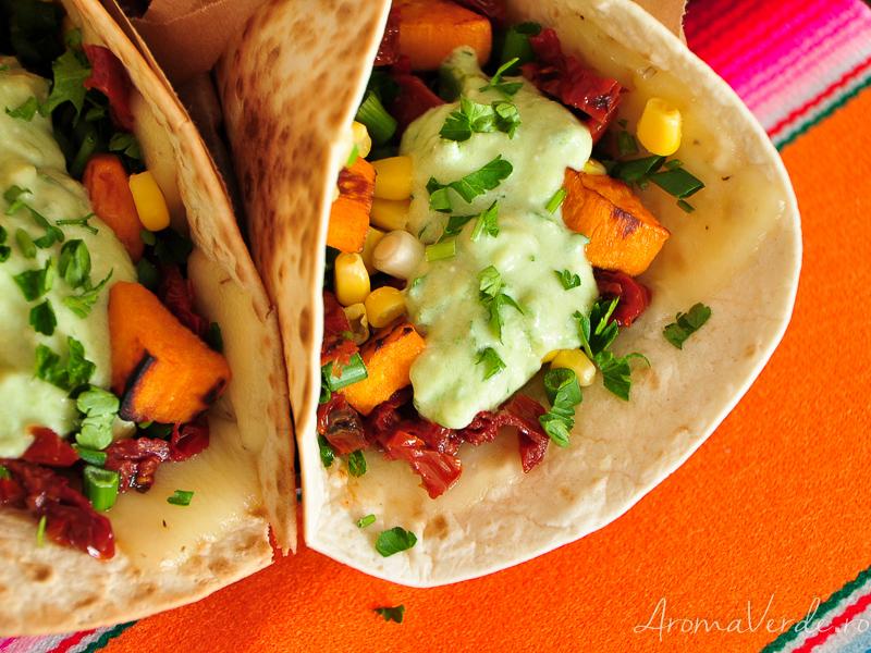 Tacos cu cartofi dulci