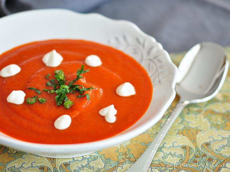 Supă cremă de ardei copți 2
