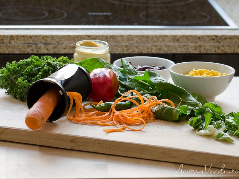 Kale, mangold, morcov spiralat, ardei