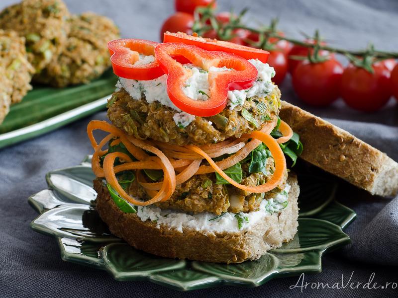 Burger vegan cu năut și quinoa