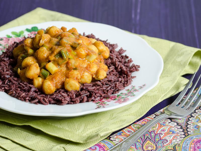 Curry de năut cu orez