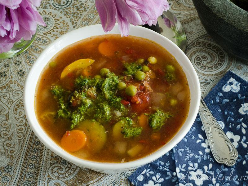 Supă Minestrone legume congelate Frosta