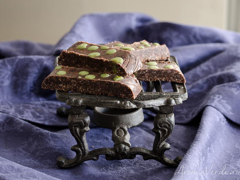 Batoane de ciocolată cu unt de arahide