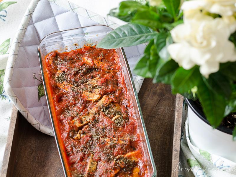 Lasagna vegană cu ciuperci și tofu