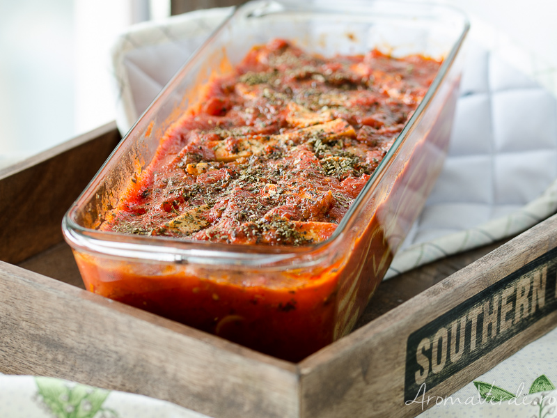 Lasagna vegană cu ciuperci