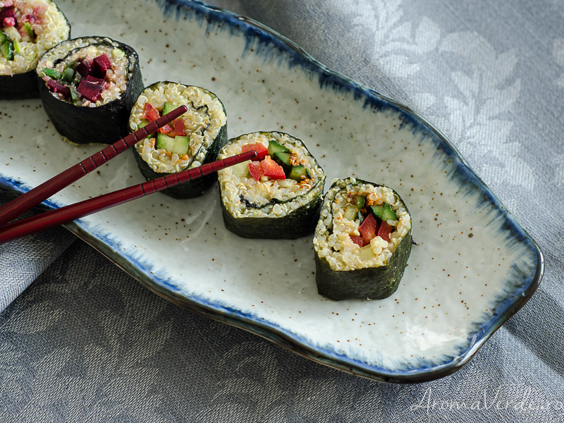 Sushi vegan cu legume și quinoa