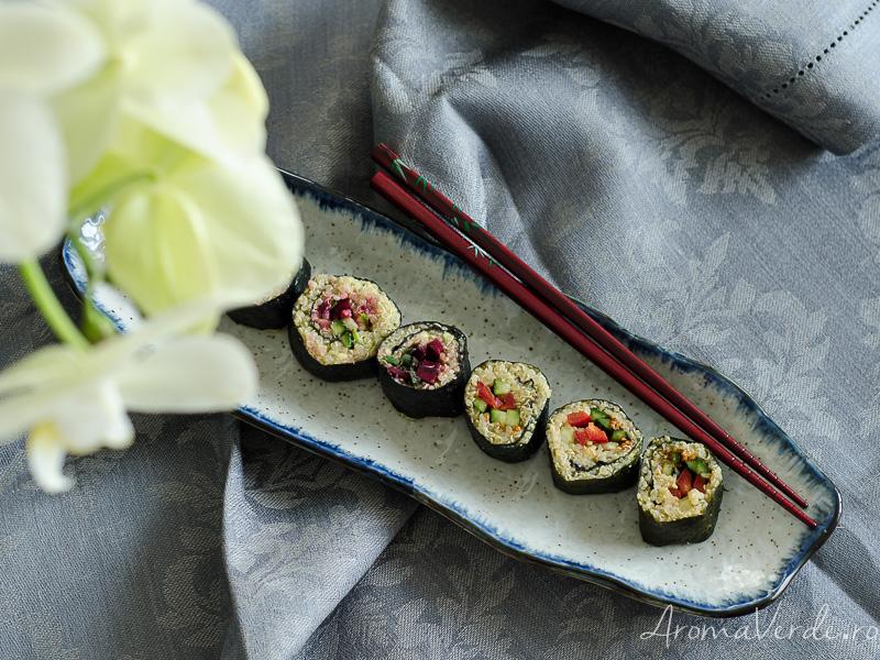 Sushi vegan cu quinoa
