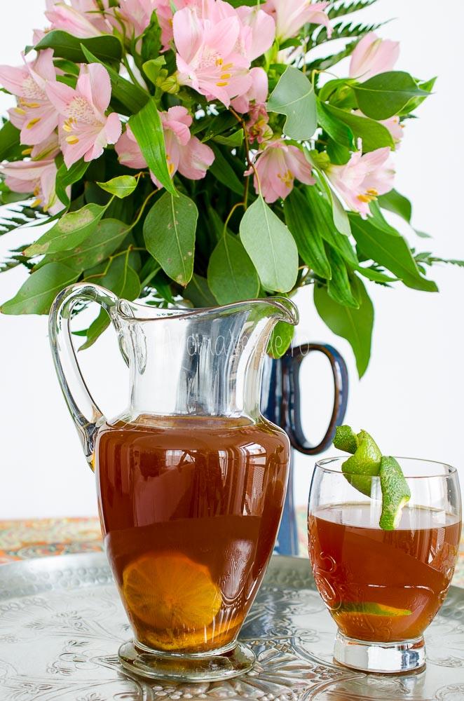 Ice tea cu boabe de cacao crude