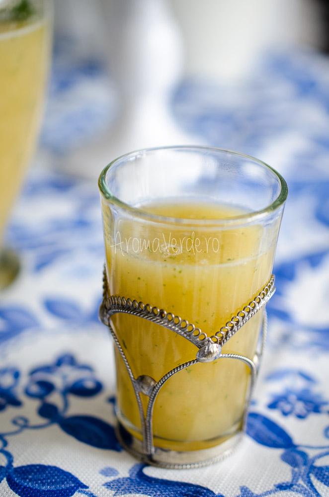 Limonadă cu pepene galben și lime
