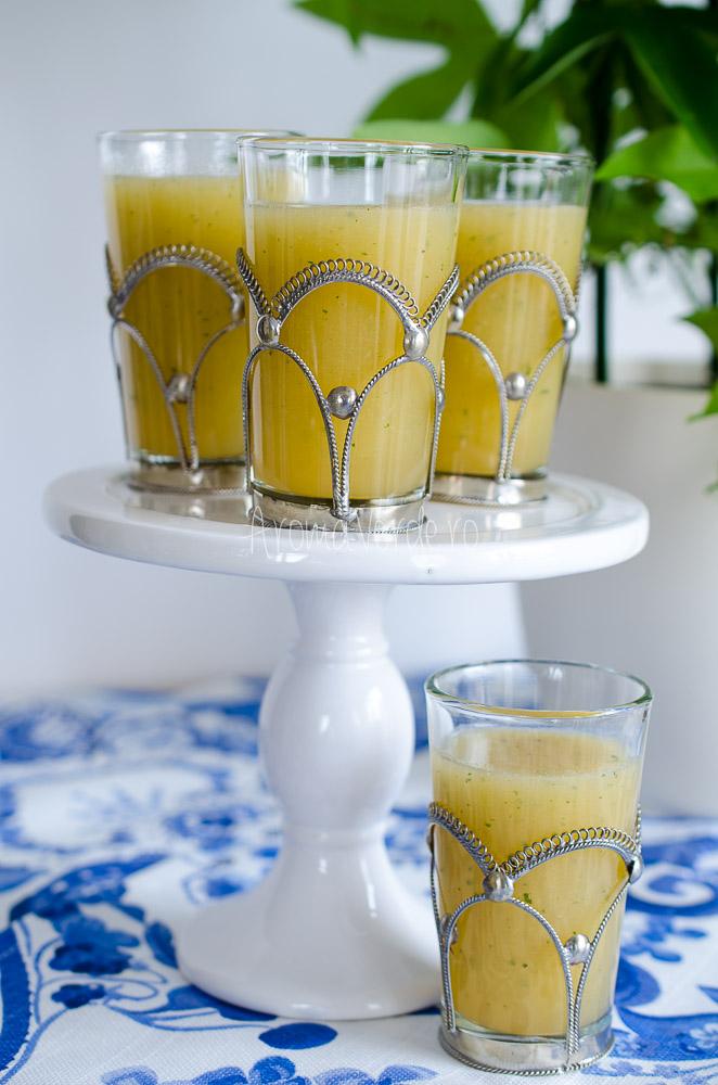 Limonadă cu pepene galben, mentă și lime1