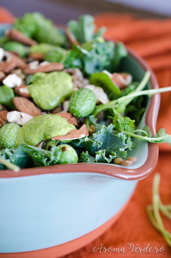 Salată cu proteine vegetale și cucamelon