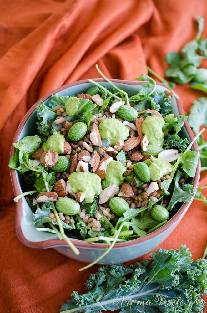 Salată proteică cu linte și spelta