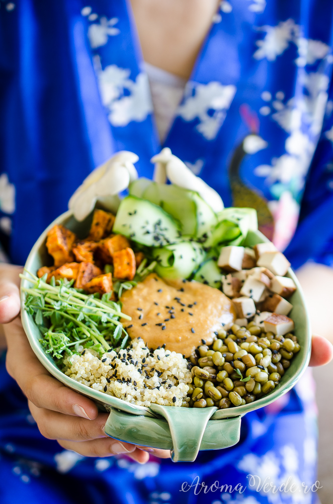 Buddha Bowl proteic cu microgreens