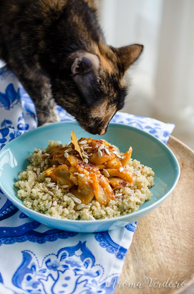 Jackfruit gătit pisica