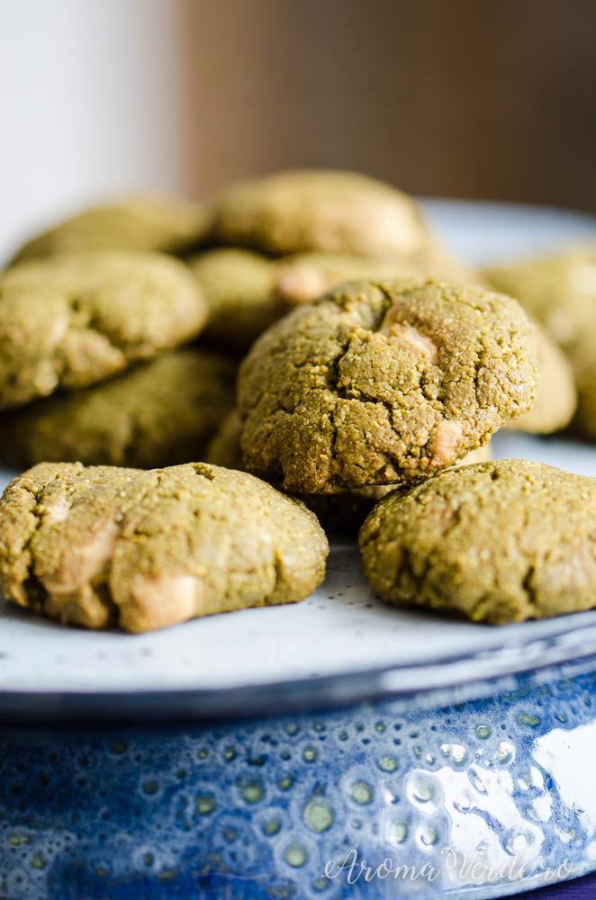Biscuiți vegani cu matcha