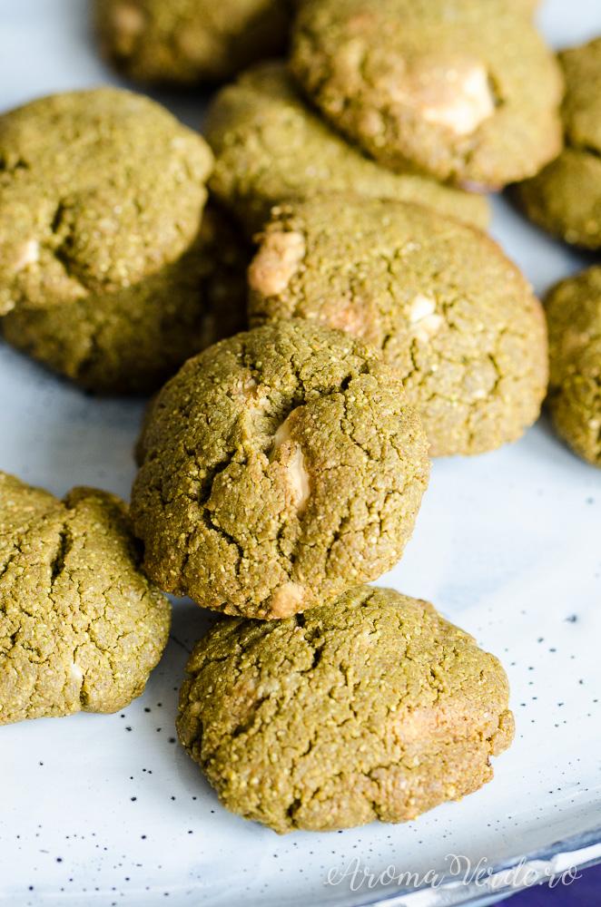 Rețetă de biscuiți vegani cu matcha