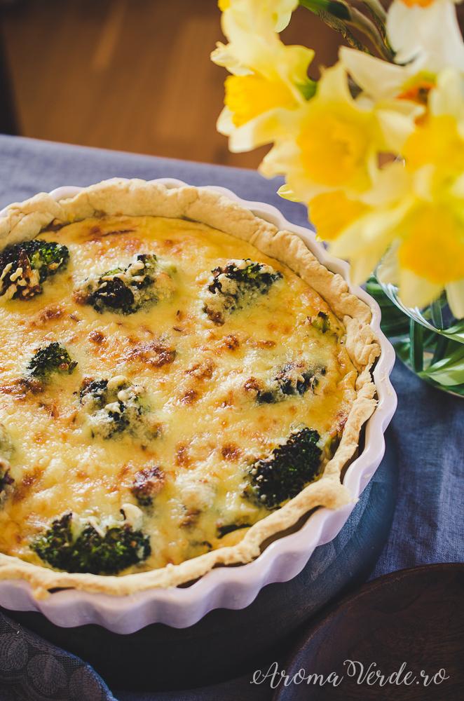 Reșetă de quiche cu broccoli și ceapă